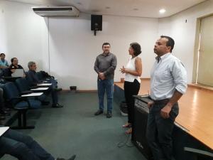 O urologista Giovanni Sandoval reuniu servidores do Naturatins na manhã desta terça-feira, 4