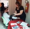 Os servidores tiveram a oportunidade de medir a pressão arterial e fazerem o teste de bioimpedância