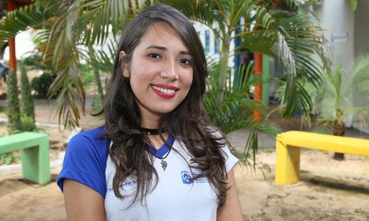 Aluna Railene Soares da Cia de Dança MundArt do Colégio Estadual São José