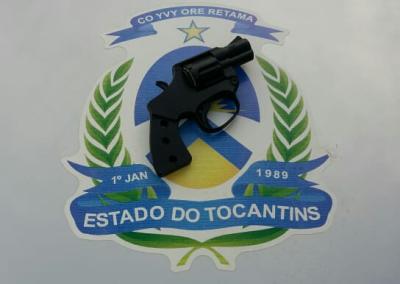 Simulacro de arma de fogo apreendida em Araguaína