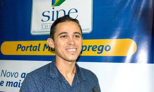 Candidato Walisson Silva, 22 anos, está confiante em preencher a vaga