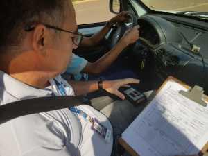 Técnicos da Metrologia atestam a leitura dos medidores de velocidade para veículos automotores em conformidade com a velocidade permitida nas rodovias