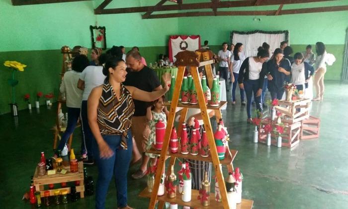 A comunidade local prestigiou a exposição