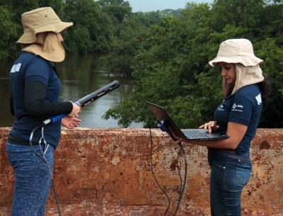 Nesta última campanha o programa contempla a coleta em campo de 40 pontos localizados em 18 bacias hidrográficas
