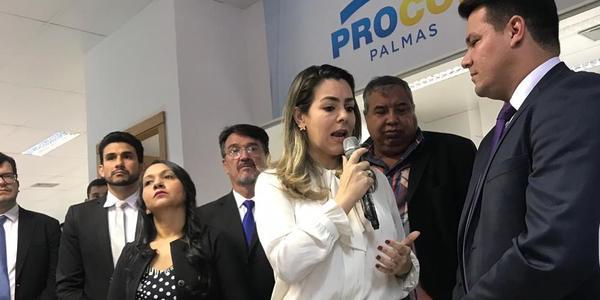Prefeita Cintia Ribeiro destaca parceria do governdo na estruturação do Procon municipal.jpeg