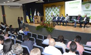 Ações foram realizadas durante o Seminário do Plano Estratégico do Tocantins Livre de Febre Aftosa sem Vacinação e Fórum de Pecuária Sustentável do Tocantins no auditório do Palácio Araguaia, em Palmas