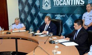 O Protocolo de Compromisso foi assinado entre o Estado do Tocantins e a Força Aérea Brasileira, nesta sexta-feira, 14