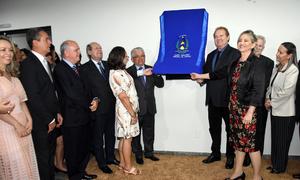 O governador Mauro Carlesse e o presidente do Tribunal de Justiça do Tocantins (TJTO), desembargador Eurípedes Lamounier, inauguraram na tarde desta sexta-feira, 14, as novas dependências do Fórum de Araguaína