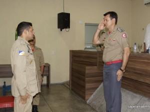 Cap. Danúbio assume o lugar do até então comandante da 2ª CIA, cap. Lázaro Nogueira da Silva