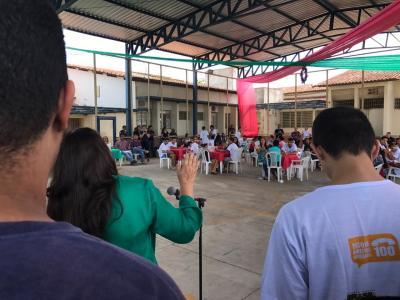 Confraternização envolvendo toda a sociedade na Unidade Ceip Sul em Gurupi.