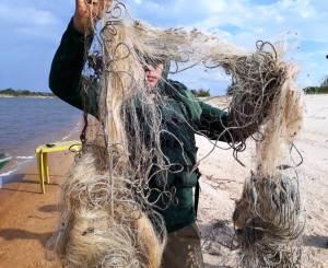 Redes de pesca são apreendidas em operação de fiscalização no Cantão