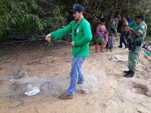 Fiscais apreendem material predatório em rios do Tocantins