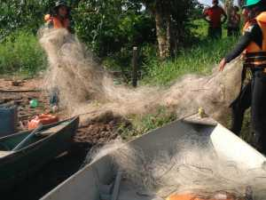 Fiscais do Naturatins recolhem redes às margens de rios