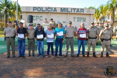 Militares que foram para a reserva remunerada.