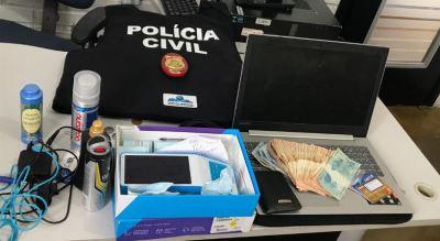Objetos recuperados pela Polícia Civil no interior do Estado.JPG