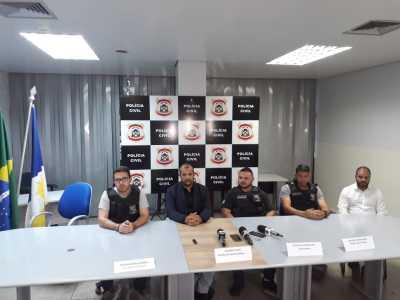 Ação da Polícia Civil resultou na prisão de trêss pessoas, dentre eles o vice-prefeito de Novo Acordo.jpeg