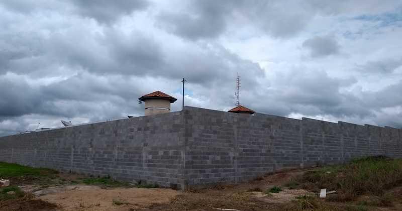 Muro de segurança da CPP de Guaraí construído em parceria com a Vara Criminal