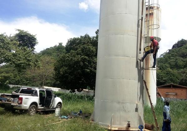 Novo reservatório tem capacidade para reservação de 75 m³ de água