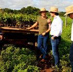 Equipe da Semarh em visita técnica da Fazenda Agropecuária Kehler para implantação do Projeto Sustentável