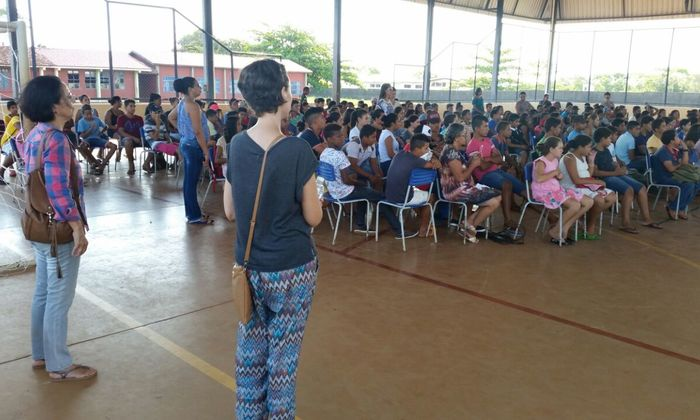 Projeto de educação ambiental desenvolvido em escola de Caseara, na região do Parque do Cantão