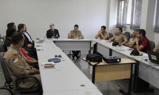 Reunião com Forças de Segurança ocorreu nesta terça-feira, 5, no Quartel do Comando Geral, em Palmas