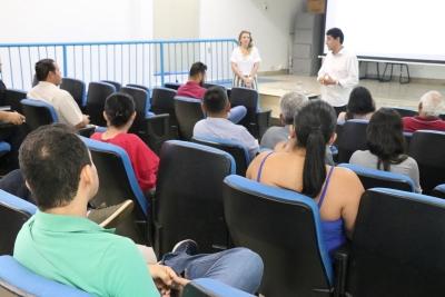 Servidores da ATS participam de palestra realizada nesta quarta-feira, 6