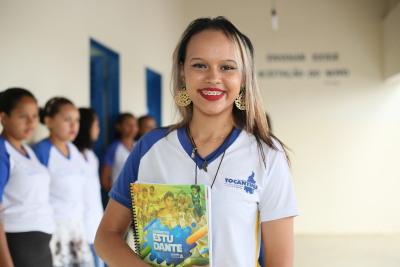 Alice Lopes de Sousa destacou a melhoria na estrutura como um incentivo aos alunos