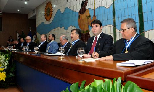 Também foram empossados os conselheiros Alberto Sevilha, vice-presidente, e Wagner Praxedes, corregedor