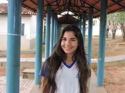 Ana Clara destacou a recepção feita pela equipe da escola junto com os jovens protagonistas