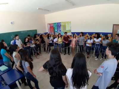 Em Palmas, os alunos da Escola Estadual Elizângela Glória Cardoso também participaram de atividades
