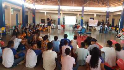 Estudantes de Taguatinga participaram das dinâmicas da primeira semana de aula