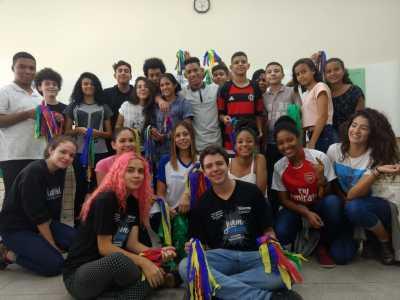 Jovens protagonistas, egressos do ensino integral de Pernambuco participaram do acolhimento nas Escolas Jovem em Ação