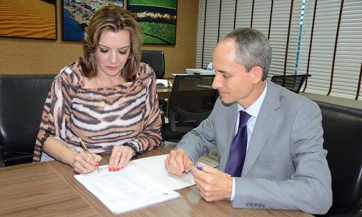 Denise Rocha Domingues e Mivair Vieira Borges,procurador Geral do estado Fotos -Antonio Gonçalves