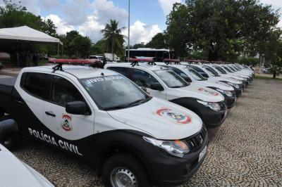 15 novas viaturas são entregues pela Polícia Civil ao governo do Estado