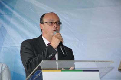 Secretário da SSP discursa durante entrega de equipamentos a Polícia Civil