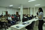 Gerente Ana Dolores em apresentação do treinamento dos Recursos Humanos