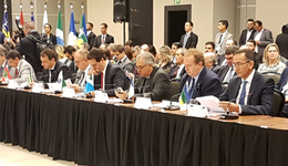 Governador do Estado do Tocantins, Mauro Carlesse, participa do 3º Fórum de Governadores, em Brasília, nesta quarta-feira, 20