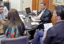 Durante a reunião, foram discutidos os trâmites para a parceria
