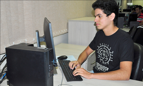 Bruno da Silva é estagiário na Agencia de Tecnologia da Informação
