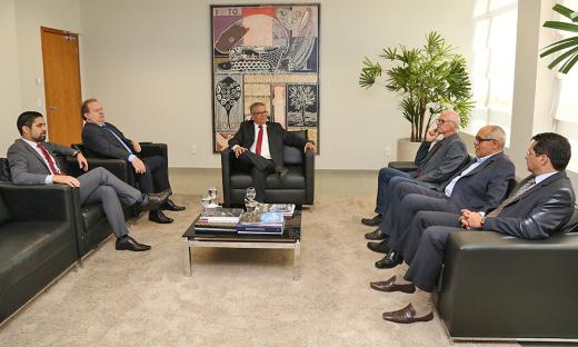 Reuniões foram as primeiras visitas oficiais ao Poder Judiciário e aos órgãos de controle após a posse dos novos gestores, ocorrida em fevereiro