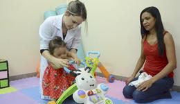 Célia Silva Lima reconheceu que o trabalho realizado pelo CER é muito importante para o desenvolvimento da sua filha