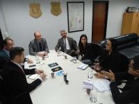 Secretário Cristiano Sampaio recebe diretor do Instituto Nacional de Identificação e superintendente regional da PF para tratativas de cooperação técnica