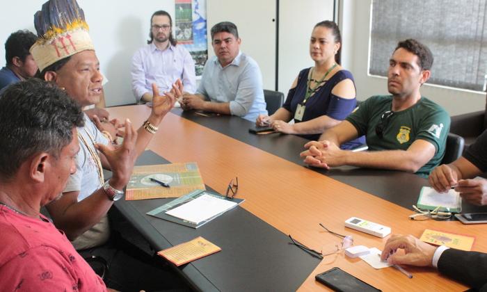 Naturatins recebe Associação Indígena Nrozawi, União Indígena Xerente e representantes da Funai Araguaia - Tocantins_Foto Tânia Caldas (3).JPG