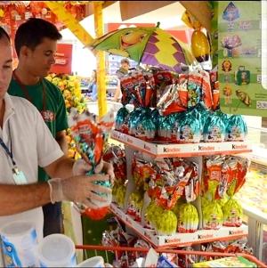 A equipe técnica da AEM irá visitar as empresas que comercializam os produtos de Páscoa em Palmas para a coleta de mercadorias