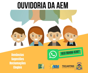 Denúncia, reclamação, solicitação, sugestão ou elogio podem ser feitos via  WhatsApp