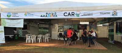 No stand da Semarh os visitantes podem fazer adesão gratuita ao CAR e conhecer mais sobre o Projeto Campo Sustentável