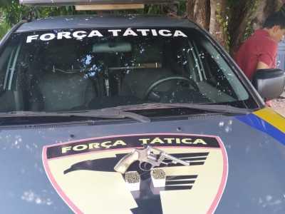 Arma de fogo e munições apreendidas em Formoso do Araguaia_400.jpg