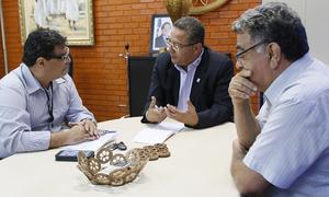 Marcos Zimmermann foi recebido por Tom Lyra e Vieira de Melo