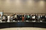 Secretário Leonardo Cintra e demais representantes das unidades federativas em registro com o ministro Gustavo Canuto
