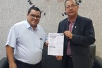 Guilherme dos Santos e Tom Lyra comemoram voos diretos entre Palmas e Brasília